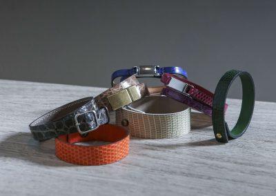Bracelets peaux précieuses croco alligator serpent lézard galuchat sur-mesures