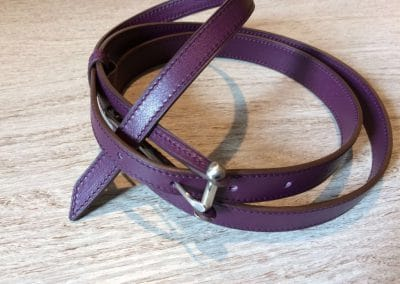 Ceinture veau violet